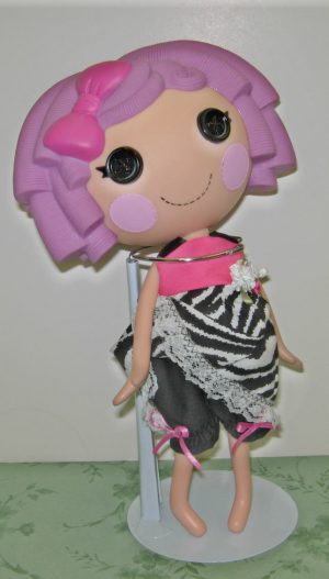 """Hot pink and zebra outfit for 13"""" La La Loopsy Dolls"""