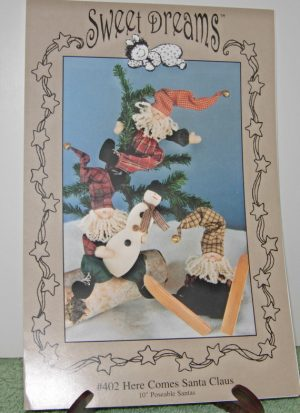 "Santa Here Comes Santa Claus 10"" poseable Santas pattern"