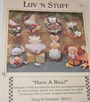 "Ornaments pattern Adorable 5"" ball ornaments or free standing decorations pattern"