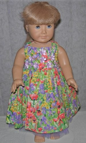 "American Girl 18"" poppy dress for summer."