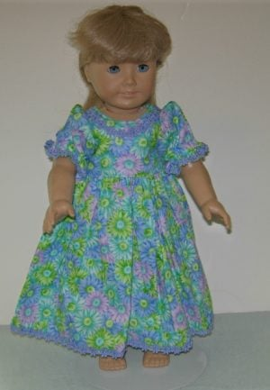 Dress in purples and greens for American Girl Dolls