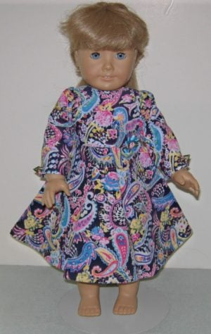"18"" corduory dress for American Girl Dolls"