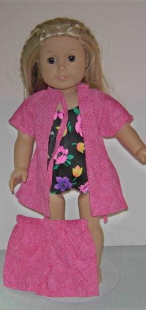 American Girl doll 3 pc swimsuit
