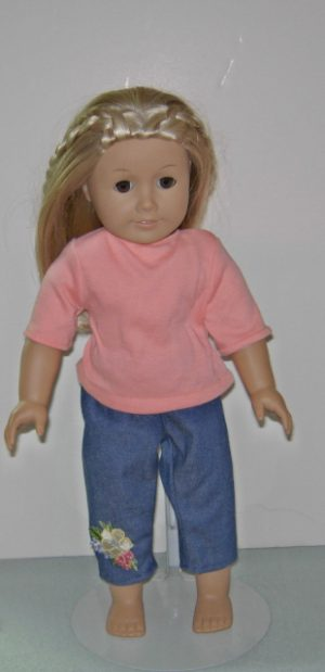 Jeans and t- shirt 2 piece set for American Girl Dolls