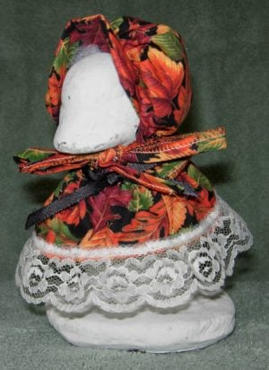 "Fall Bright colored leaves outfit for 6"" cement goose"