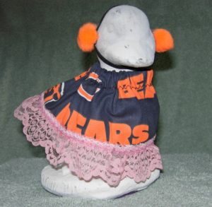 """Football Chicago Bears outfit for girl cement 6"""" geese"""