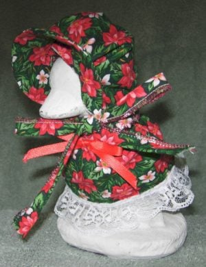 """Christmas Tiny poinsettia outfit for 6"""" baby geese"""