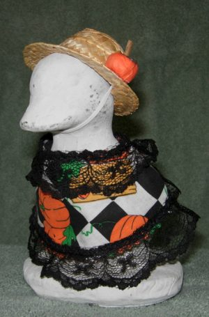 """Fall Pumpkins for sale with straw hat Geese clothes for 6"""" cement goose"""