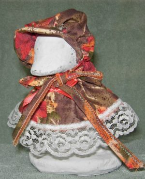 """Fall Brown and red leaves for baby goose or 6"""" cement geese"""