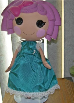 """Teal party dress with white lace for 13"""" LaLaLoopsy dolls"""