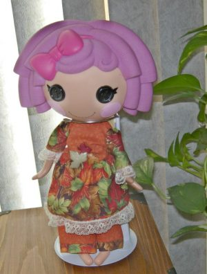 "2 piece fall outfit with top and slacks for 13"" LaLaLoopsy doll"