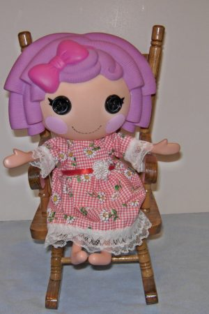 """Red & white check with daisies for 13"""" LaLaLoopsy dolls"""